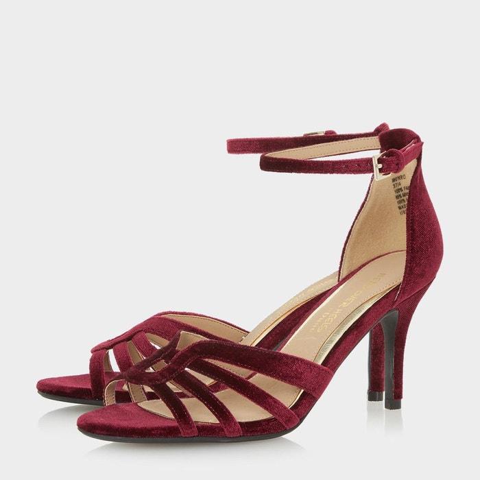 ... Sandales en deux parties à talons et bride de cheville - munro rouge  velours Head Over ...