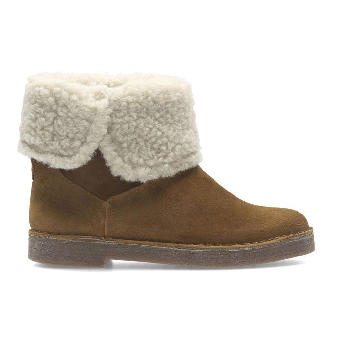Boots cuir fourrées drafty haz camel Clarks