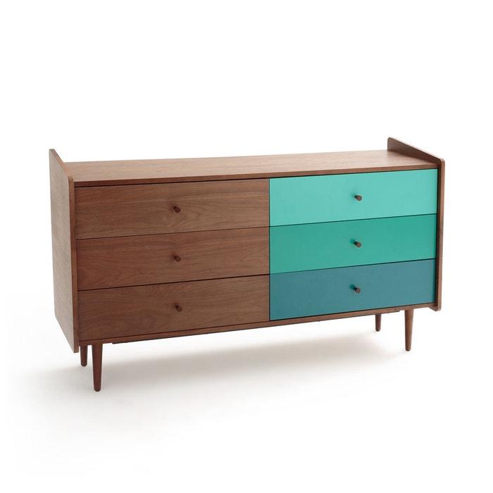 commode 6 tiroirs ronda noyer la redoute interieurs la redoute. Black Bedroom Furniture Sets. Home Design Ideas