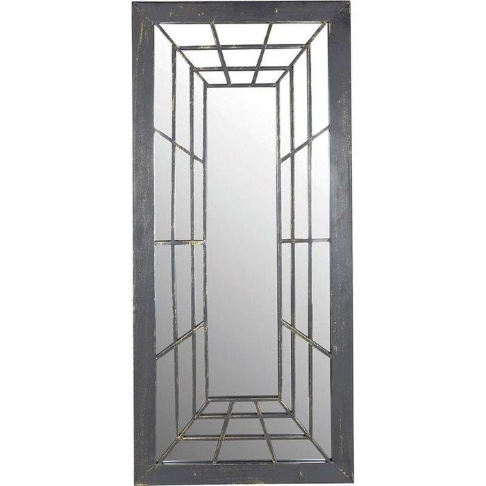 Miroir trompe l 39 oeil rectangulaire gris esschert design for Miroir design rectangulaire