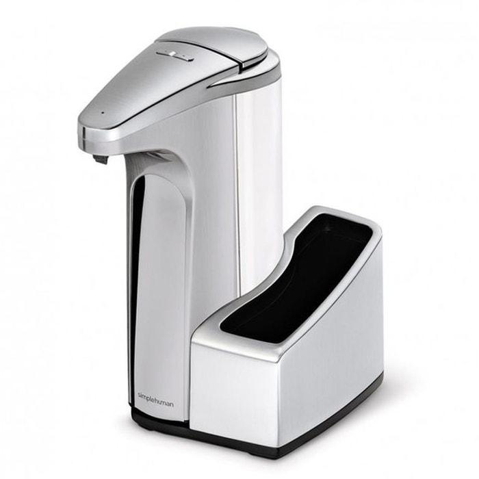 Distributeur de savon sensor avec r servoir simplehuman for Distributeur de savon ventouse