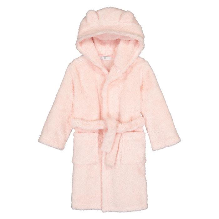 Robe De Chambre A Capuche En Polaire 3 12 Ans Rose La Redoute Collections La Redoute
