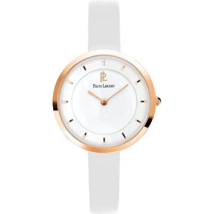 Montre femme cuir 075j900 blanc Pierre Lannier | La Redoute Haute Qualité Kws1P