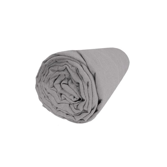 drap housse metis blanc Drap housse   métis lin et coton   uni gris gris Blanc Cerise | La  drap housse metis blanc