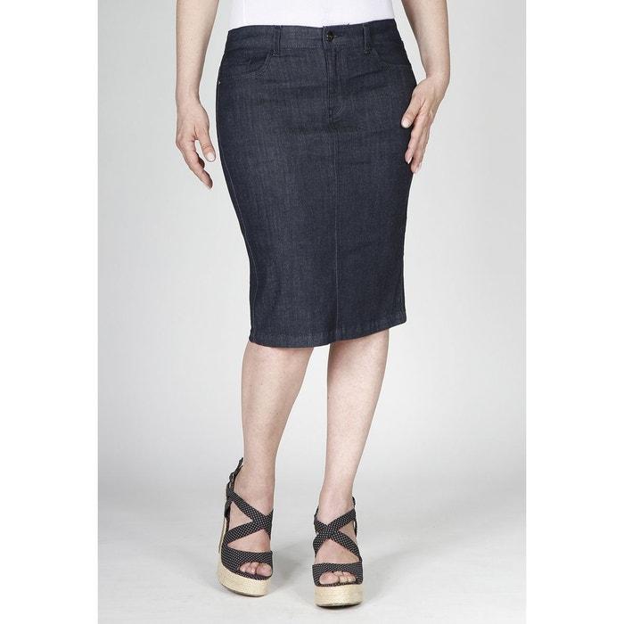 Jupe en jeans droite stretch  OBER image 0