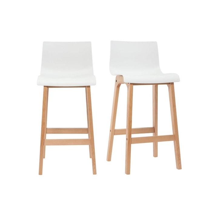 tabouret de bar design bois 65cm lot de 2 new surf miliboo. Black Bedroom Furniture Sets. Home Design Ideas