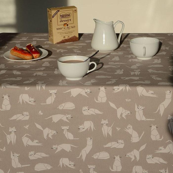 nappe enduite ronde ou ovale chats fleur de soleil la redoute. Black Bedroom Furniture Sets. Home Design Ideas