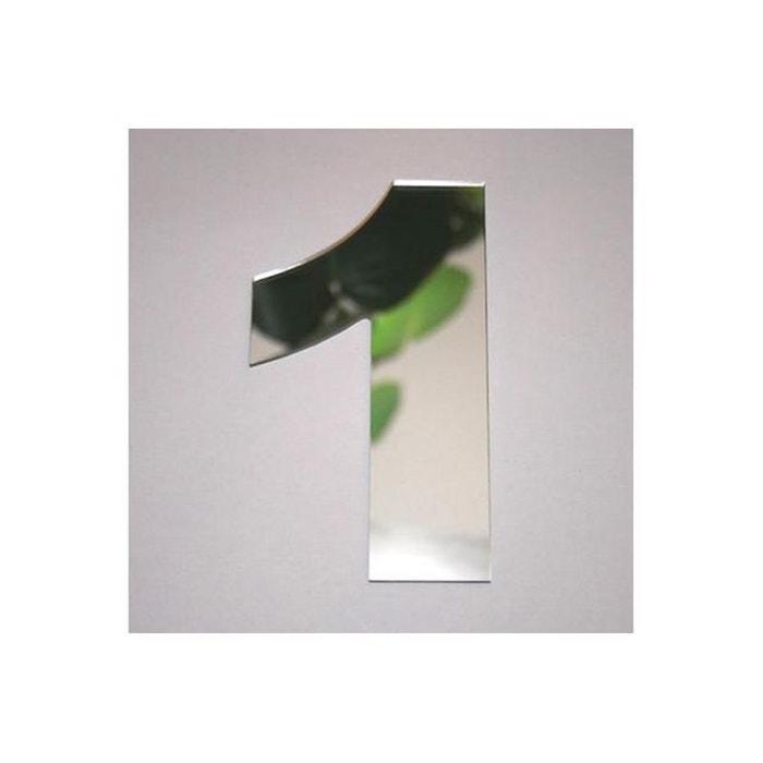 Miroir 1 argent en verre teri h 8 cm couleur unique for Miroir tendance