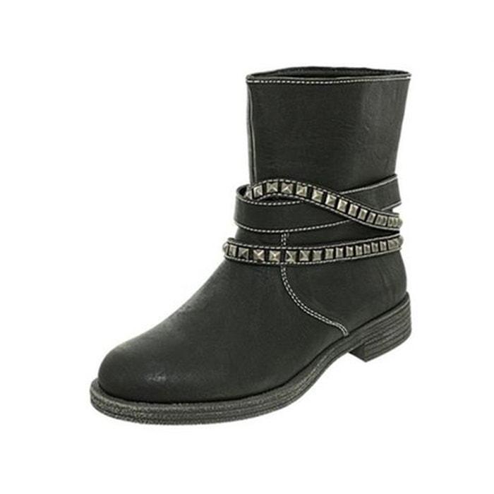 Bottines  /   boots textile  noir Toscania  La Redoute