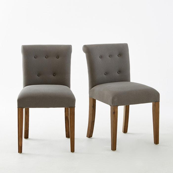2 st hle ad lia gepolsterte r ckenlehne grau la redoute. Black Bedroom Furniture Sets. Home Design Ideas