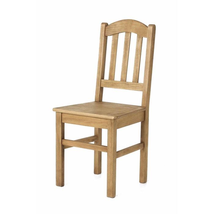 2x chaise rustique pin massif brut rgion couleurs des alpes image 0 - Chaise Rustique