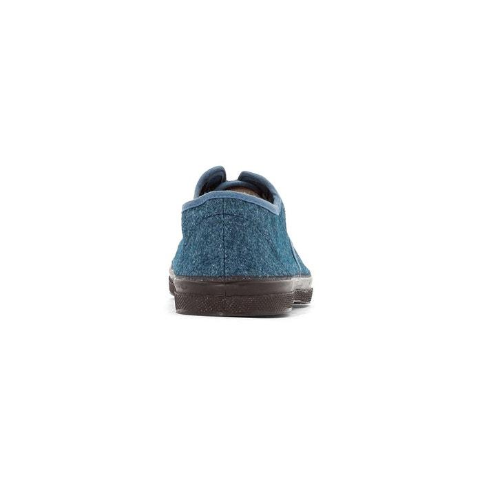 Baskets wool vintage bleu Bensimon