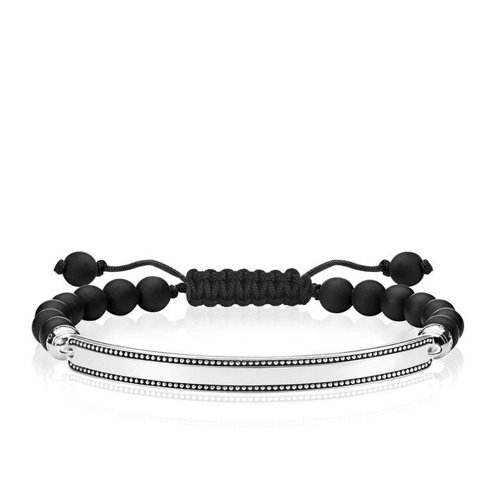 Bracelet noir argenté/noir Thomas Sabo | La Redoute Pas Cher En Vente Visite Nouvelle confortable Livraison Gratuite Ebay 31gAt