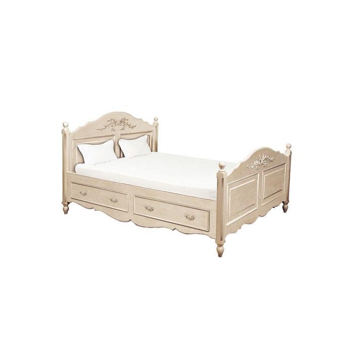 lit tiroirs 2 personnes pour literie 160x200 cm interior. Black Bedroom Furniture Sets. Home Design Ideas