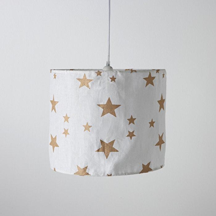 Imagen de Lámpara de techo de lino arrugado, Thadé La Redoute Interieurs