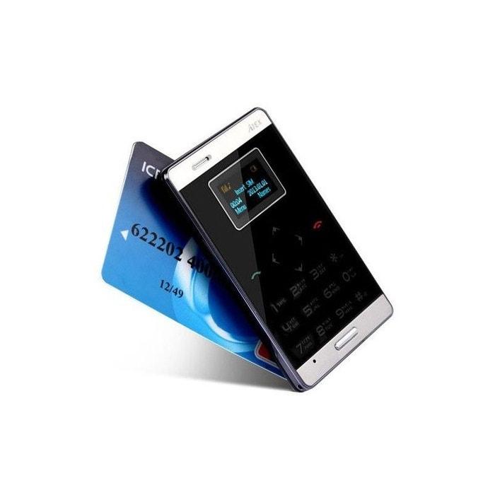 905083945f43a Mini téléphone portable débloqué format carte bleue mobile noir noir Yonis