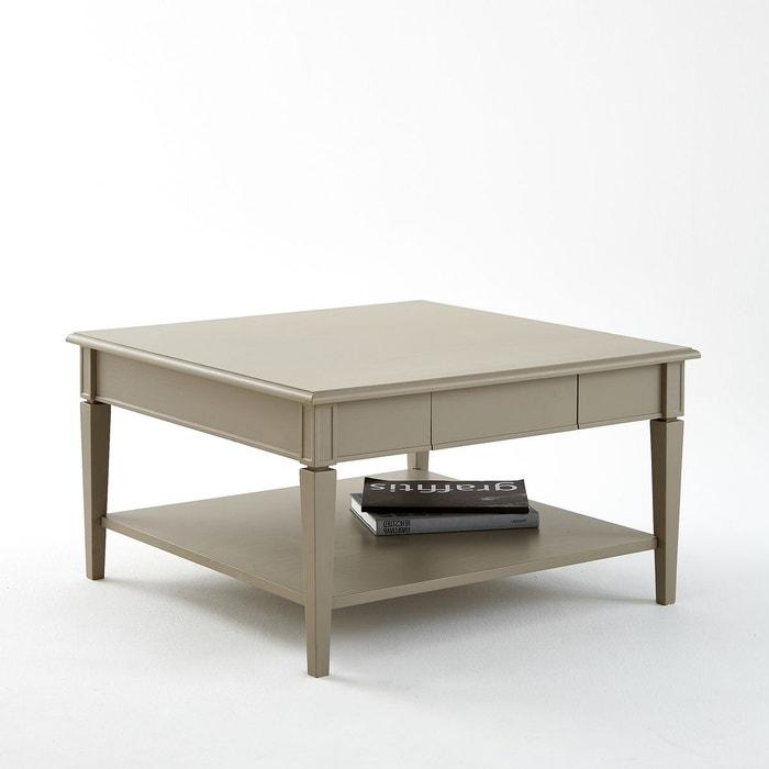 table basse carr e 1 tiroir ad lia taupe la redoute interieurs en solde la redoute. Black Bedroom Furniture Sets. Home Design Ideas