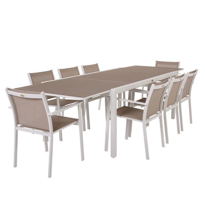 Table Et Chaises De Jardin Cologne Beige En Alu