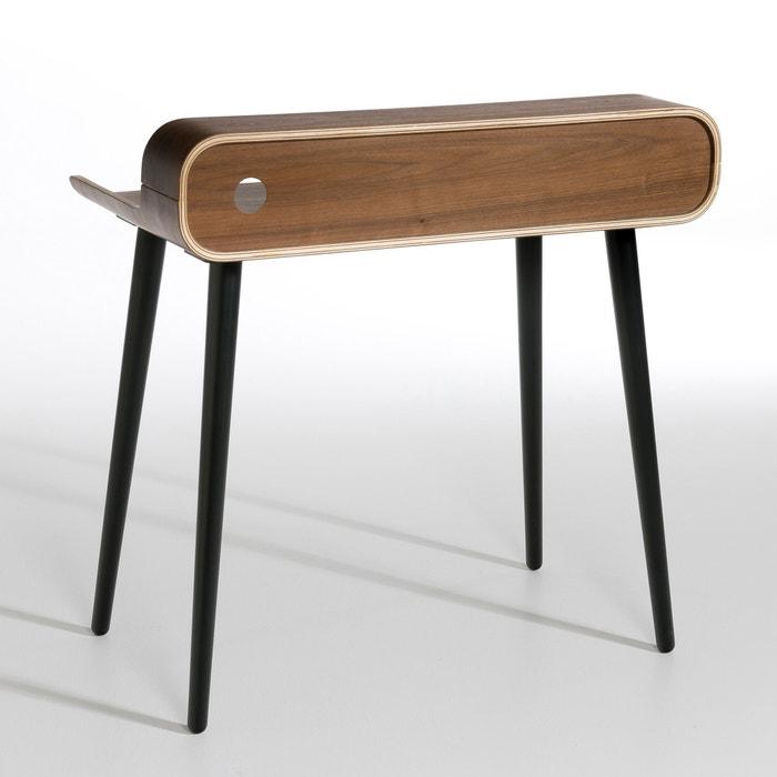 bureau vernan am pm noyer pieds noir la redoute. Black Bedroom Furniture Sets. Home Design Ideas