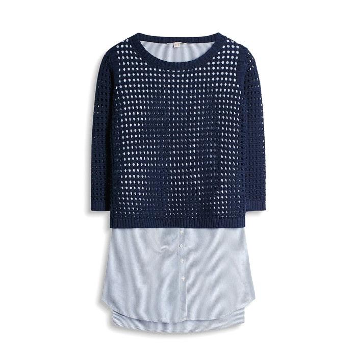 blusa calado rayas en ESPRIT 1 sin mangas Jersey a 2 con AYw5qP