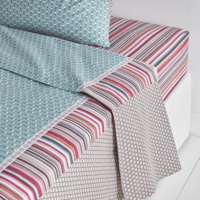 drap plat flanelle imprim e m tismix imprim bleu rose. Black Bedroom Furniture Sets. Home Design Ideas