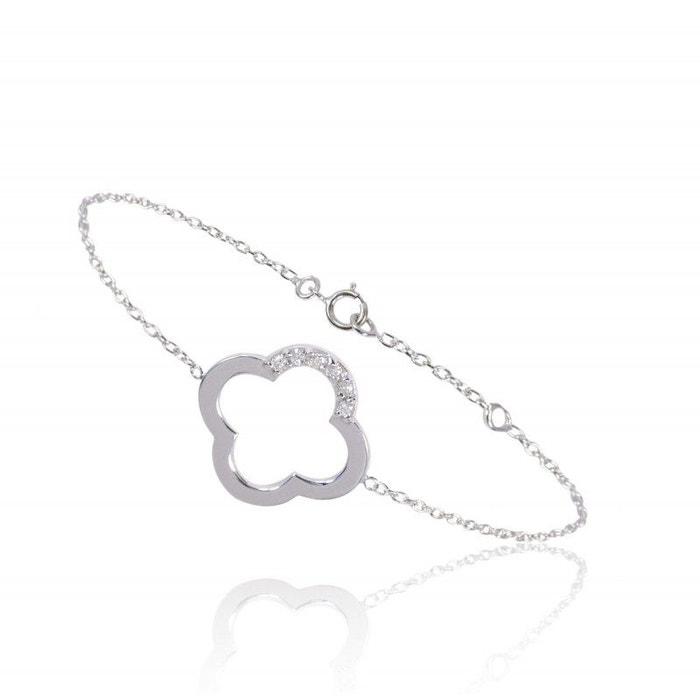 Bracelet chaine 4 arcs et 6 diamants ! blanc Be Jewels | La Redoute Prix Pas Cher De Haute Qualité 4iosUXbyZl