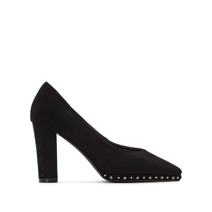 bee078b74 Sapatos com tacão, 9 cm, com tachas preto La Redoute Collections ...