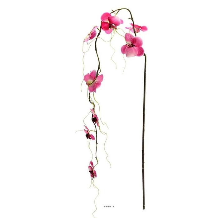 Orchidee Artificielle Retombante H 110 Cm 9 Fleurons Originale Rose