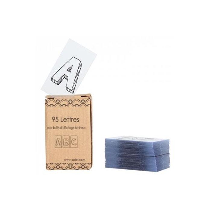 alphabet pour boite lumineuse 95 lettres et symboles. Black Bedroom Furniture Sets. Home Design Ideas