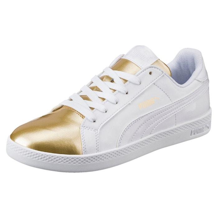 Basket smash metallic pour femme metallic gold-puma white Puma