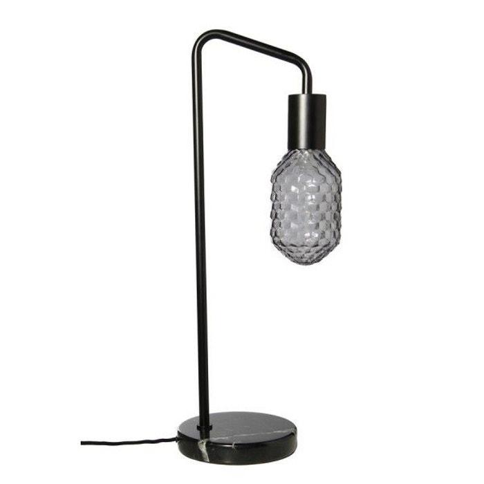 lampe de table socle en marbre frandsen urban gris frandsen la redoute. Black Bedroom Furniture Sets. Home Design Ideas