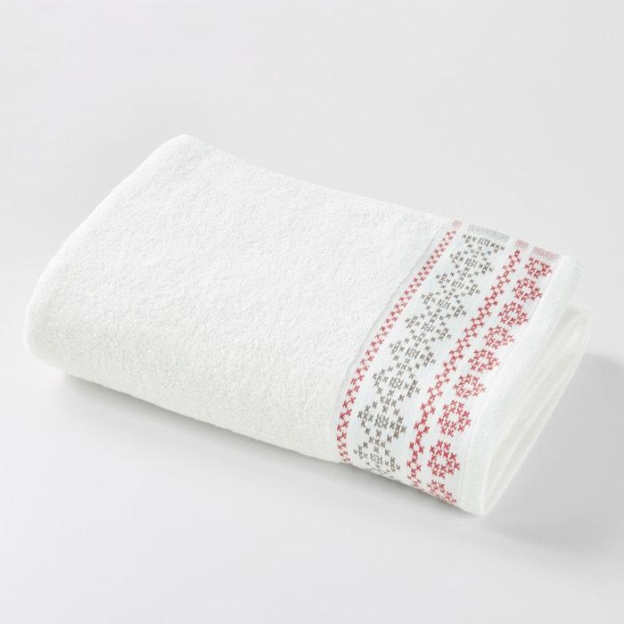 Image Maxi drap de bain, CHALET, liteau jacquard motif traditionnel. La Redoute Interieurs