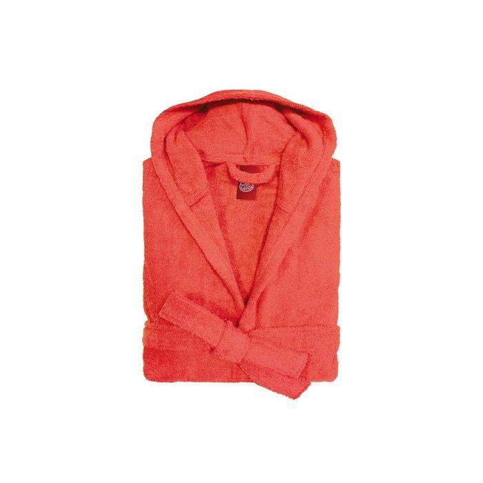 peignoir capuche enfant coton peign 450 g m corail. Black Bedroom Furniture Sets. Home Design Ideas