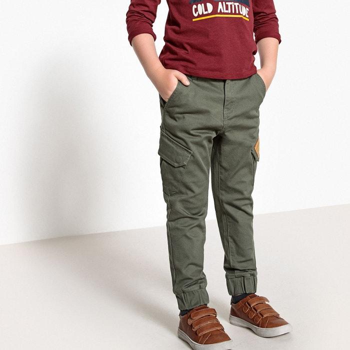 Pantalon jogger 3-12 ans vert kaki La Redoute Collections  3b2518d1d198