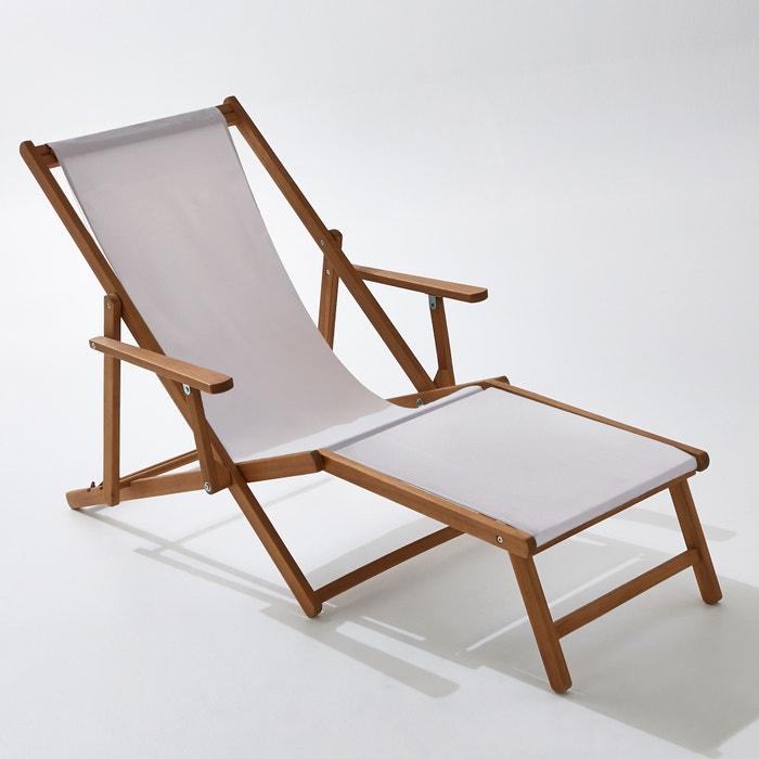 Chaise longue acacia et toile amezza la redoute for Chaises longues bois et toile