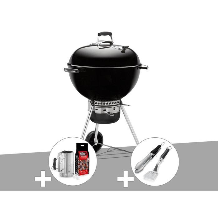 c7989ded7fe Barbecue weber master-touch gbs 57 cm noir + kit cheminée + kit ustensile  Weber