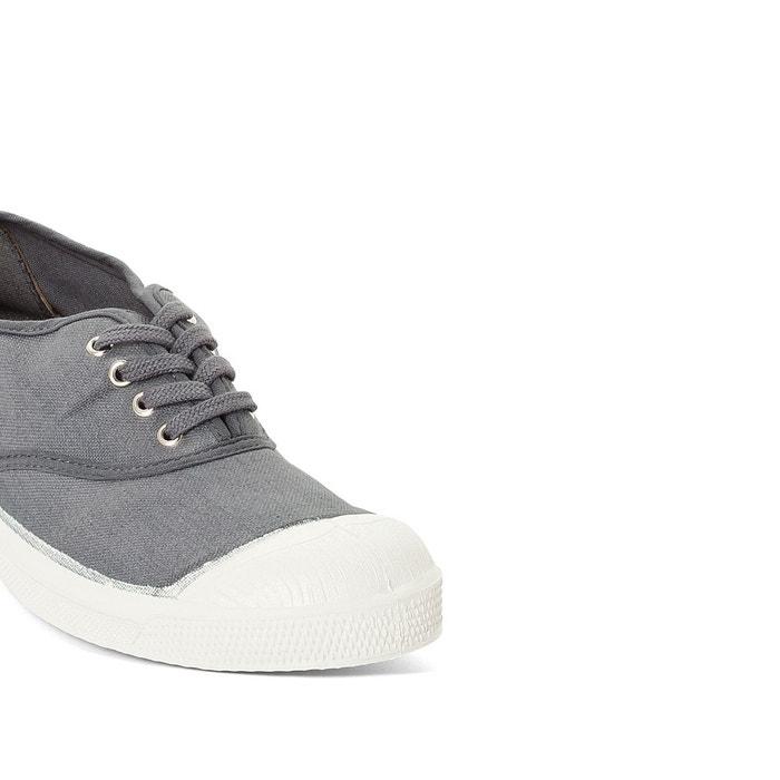 Baskets basique lacets gris Bensimon