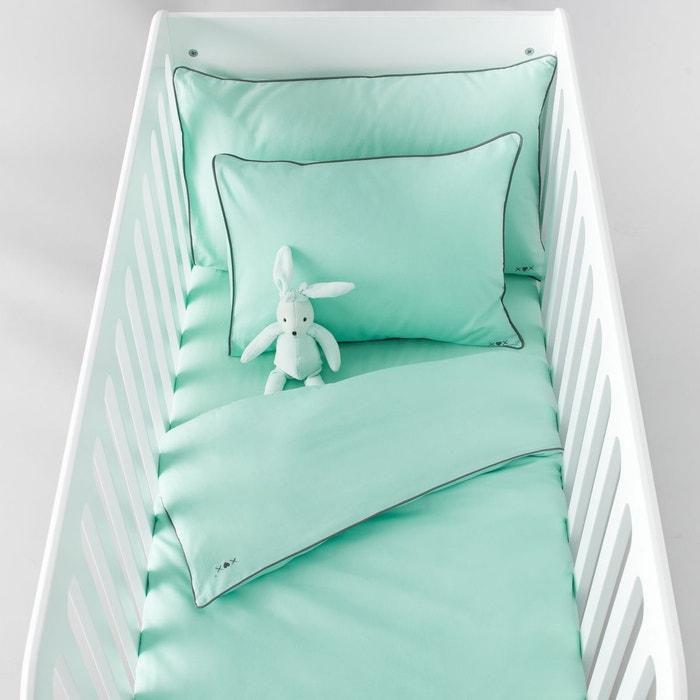 drap plat b b uni en coton r baby la redoute. Black Bedroom Furniture Sets. Home Design Ideas