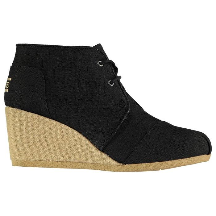 Chaussure semelle compensée à lacets noir Skechers
