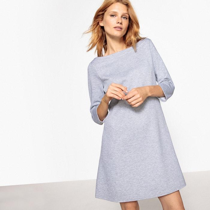 afbeelding Wijde sweater jurk met boothals La Redoute Collections