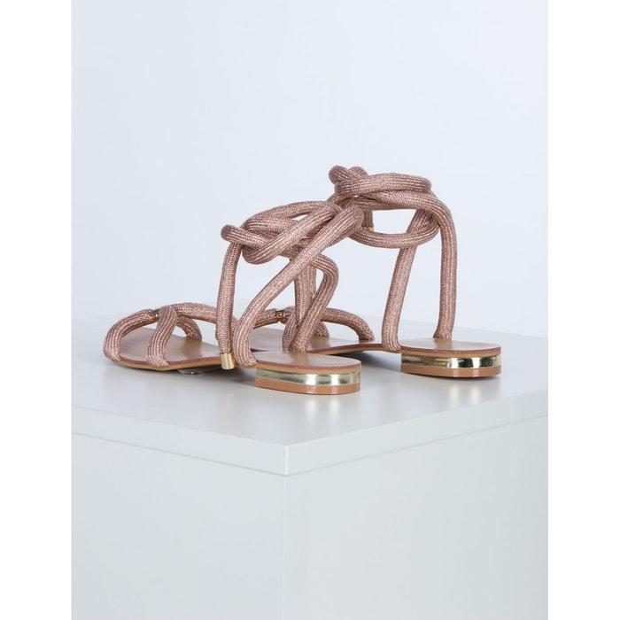 Sandales lacées irisées  dore Morgan  La Redoute