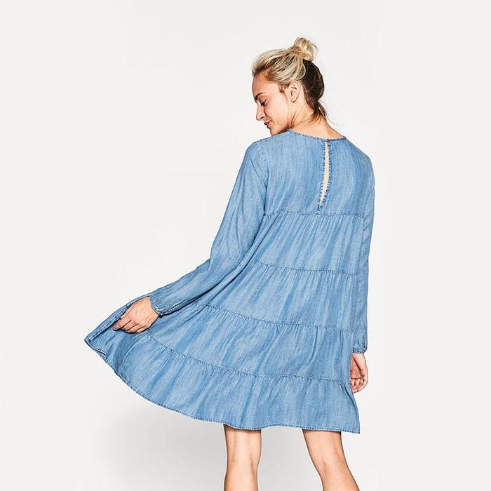 Plain Short Skater Dress with Long Sleeves  ESPRIT image 0