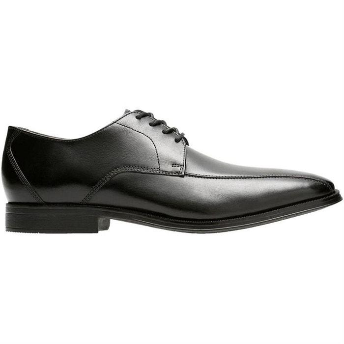 ede648a0603 Chaussures à lacets cuir noir Clarks