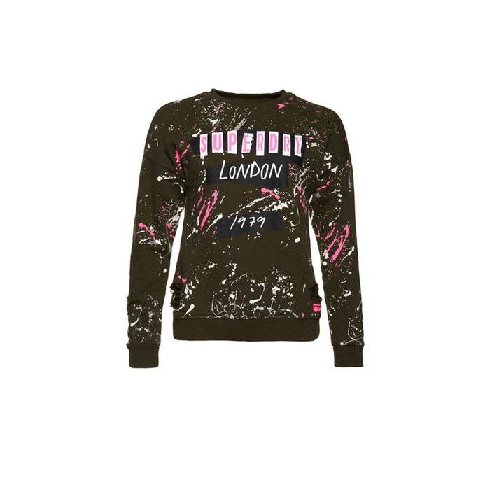Boutique En Ligne Pas Cher Superdry Pull à col rond Splatter Punk En Ligne Bon Marché Offres De Livraison Gratuite Bonne Vente Yd9yN