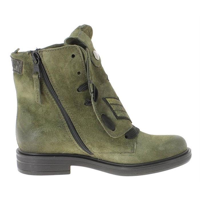 Achats En Ligne Avec Mastercard Bottines / boots cuir kaki Mjus Pas Cher En Vente Visite Nouvelle Nouveau Site Officiel Prix Pas Cher YX95mczC