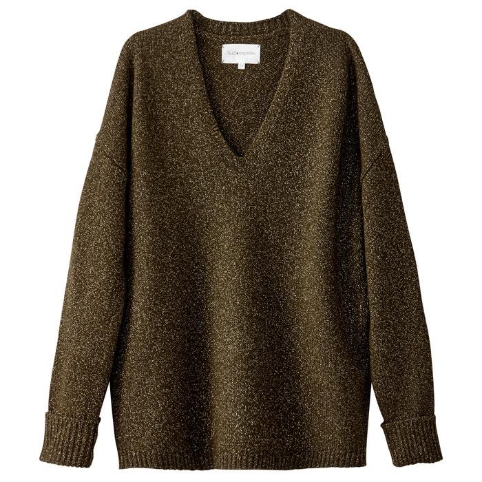 Пуловер с вырезом доставка