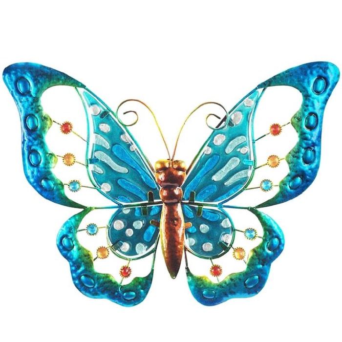 United labels papillon déco murale 33 x 25 cm modèle bleu la redoute