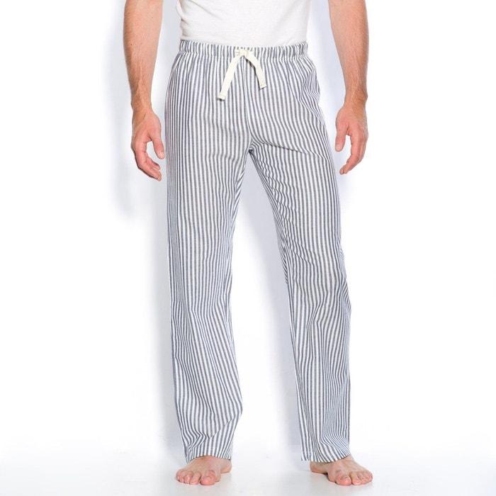 pantalon d int rieur popeline ray e coton ray bleu la. Black Bedroom Furniture Sets. Home Design Ideas