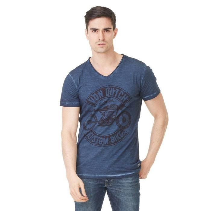 T-shirt col v homme von dutch orsen imprimé