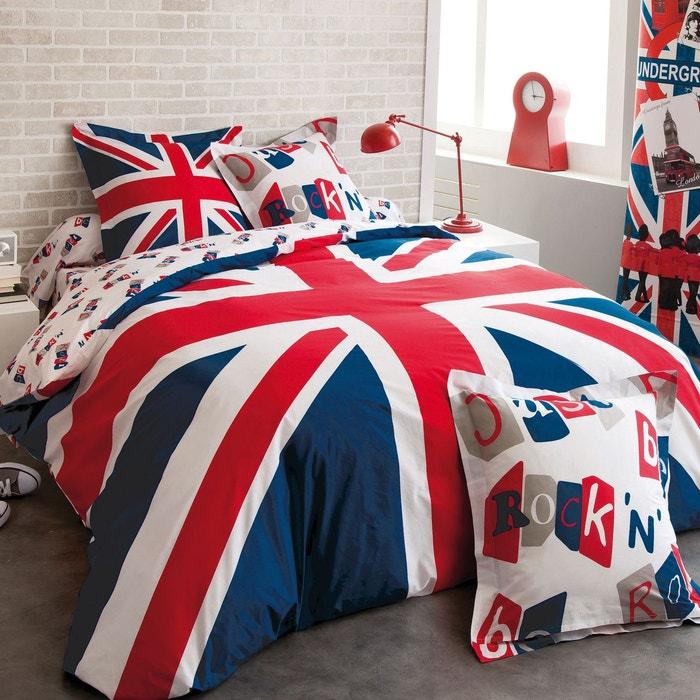 housse de couette british en coton bleu bleu cotonflor la redoute. Black Bedroom Furniture Sets. Home Design Ideas